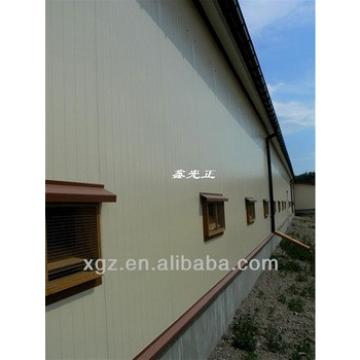 advanced prefab steel chicken poultry house with automatic chicken feeding system