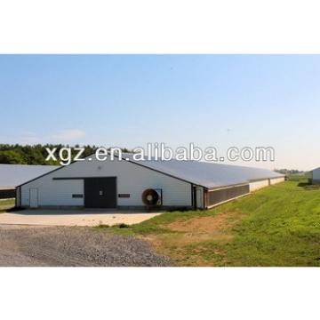 modern design steel structure big chicken house with automatic equipment