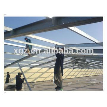 Steel structure heat insulation roof chicken house construction