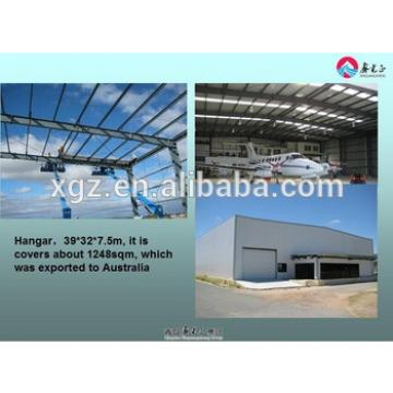 Large span steel fabric aircraft hangars