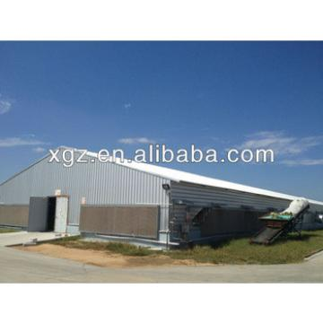 Structural steel frame poultry farm chicken shed
