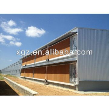 Prefabricated steel structure layer chicken shed
