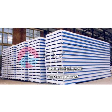 PPGI/ light steel corrugated EPS sandwich panel/best price