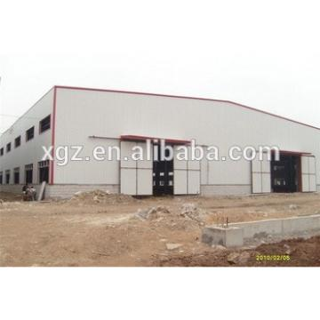 economic multi-span construction steel frame warehouse