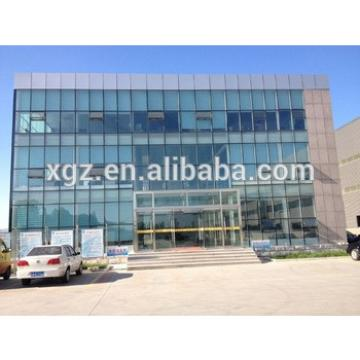 Glass Wall Curtain Prefabricated Steel Structure Buildings for Office