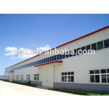 fast construction large span prefab light steel structure workshop