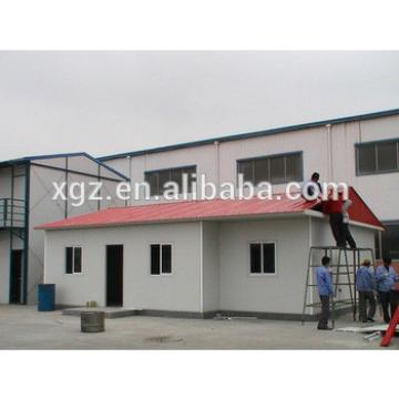 Flat roof steel structure prefabricated house apartment