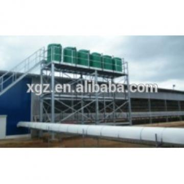 prefab steel structure broiler house with full equipments