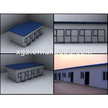 Flat roof steel frame prefabricated home for living