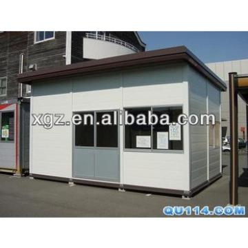 Flat roof mini size steel structure prefabricated house