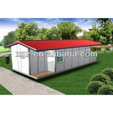 Slope roof color steel structure prefabricated house