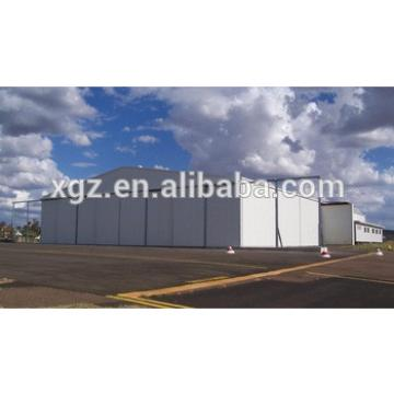 Light steel frame hangar for aircraft