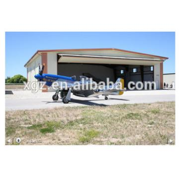 Steel aircraft hangar buildings with bi-fold door