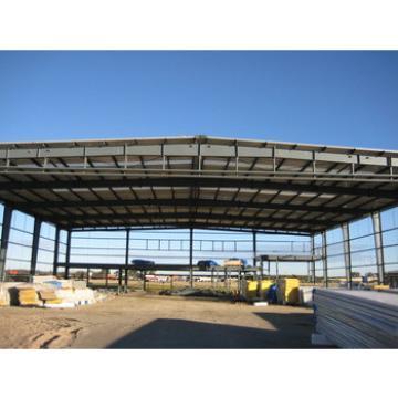 large span structural steel hangar