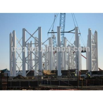 white painting steel structure beam and column