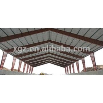 corrugated sheet steel roof structure