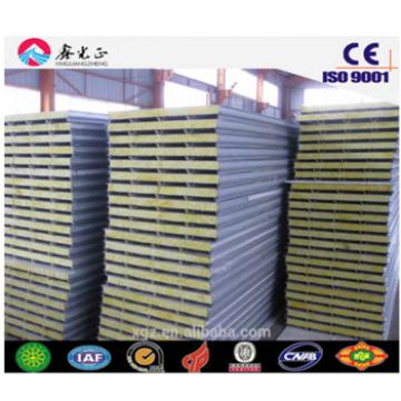 EPS/PU/Rock wool sandwich panel used for wall and roof