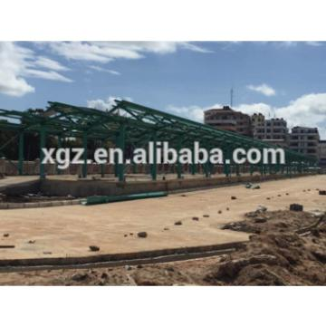 Prefabricated steel structure materials for Terminus project in Tanzania