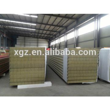 High fireproof Rockwool sandwich panel with color steel sheet for wall and roof