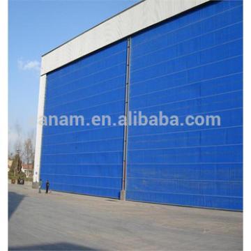 Large airplane hangar door