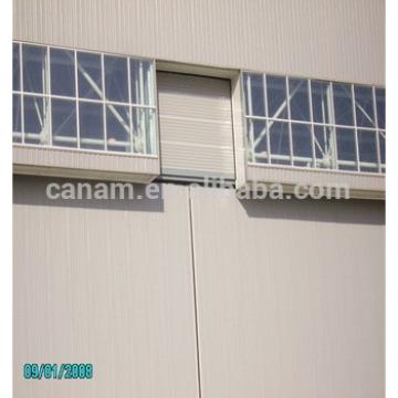 Large span heavy steel structure sliding aircraft hangar door