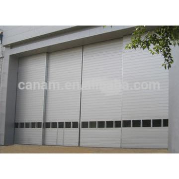 Large size industrial electric horizontal sliding hangar door