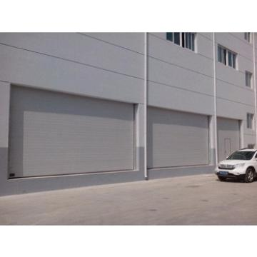 Hot sale industrial sliding sectional door with transparent window