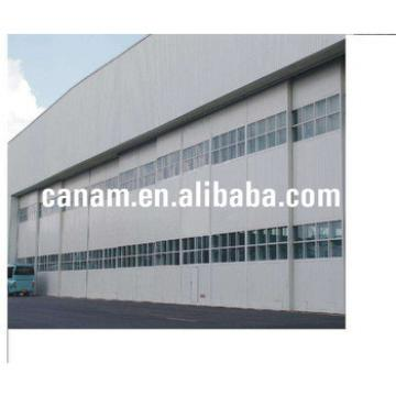 Automatic Sectional Factory Hangar Sliding Door With Remote Control Aircraft Door