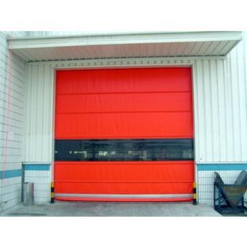 Aluminum frame PVC fabric fast industrial rolling door