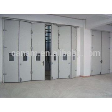 Cheap industrial horizontal sectional folding door