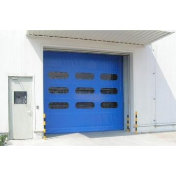 Automatic PVC high speed fast roll up door stainless steel frame
