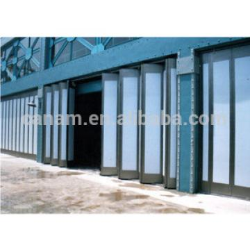 Commercial aluminum interior temporary folding doors