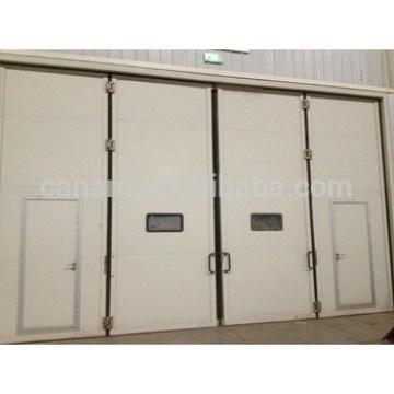 Industrial electric steel folding door