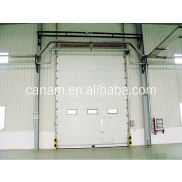 Easy Manual Dragging Industrial Sliding Up Door With Finger Protection Design Insulated Panel