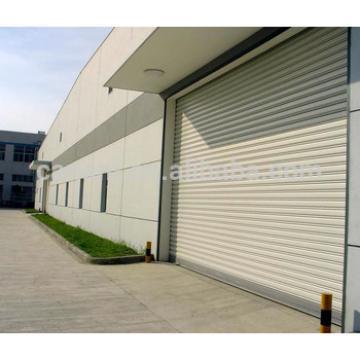 Galvanized steel automatic industrial windproof door