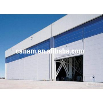 Grand volume prefabricated steel hangar building with fully opening door