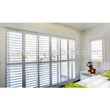 High quality adjustable wooden sliding shutter