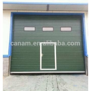 Industrial insulated automatic sectional overhead door