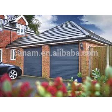 exterior roller shutter door with aluminium double layer slats