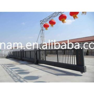 Suspend Sliding Boundary Wall Gates Railing Steel Trackless Electric Gate