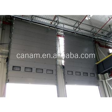 Auto Control Easy Lift Industrial Sectional Sliding Door With Top Quality Motor