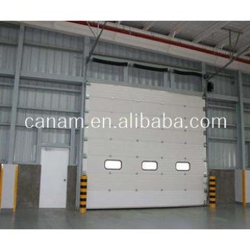 china sectional vertical lift sliding garage doors with windows