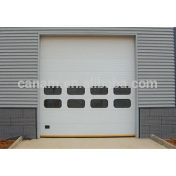 Sectional panel automatic industrial overhead door