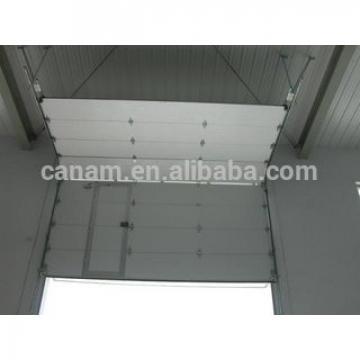 Fast rapid industrial sectional door/industrial used big warehouse sectional panel door