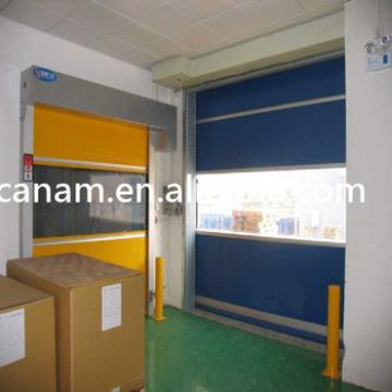Fast speed interior roll down sliding pvc plastic interior door