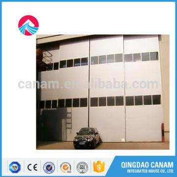 steel automatic industry door with lighting windows