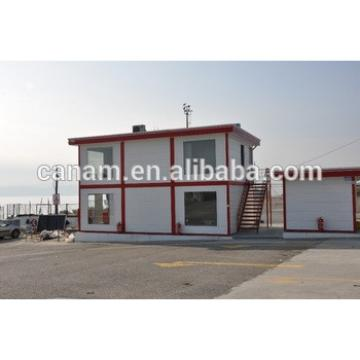 Flat pack container living house for office or dormitory with stair and air condition