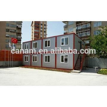 Cheap easy movable layers container living house for refugee camp with stair