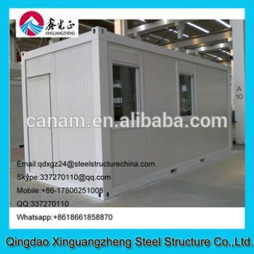 Flatpack container house with slide or single window