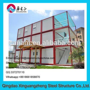 Prebuilt light steel structure 3layers container living house